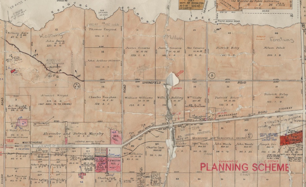 Part of Nunawading Parish Plan